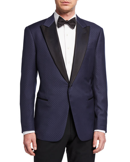 Giorgio Armani Men's Fancy Geo Virgin Wool Tuxedo Jacket