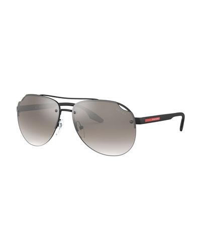 Linea Rossa Men's Mirrored Aviator Sunglasses
