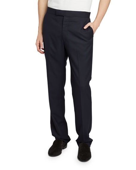 THE ROW Men's Isaac Solid Wool Pants