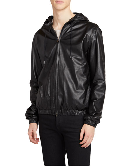THE ROW Men's Clement Lambskin Hooded Jacket