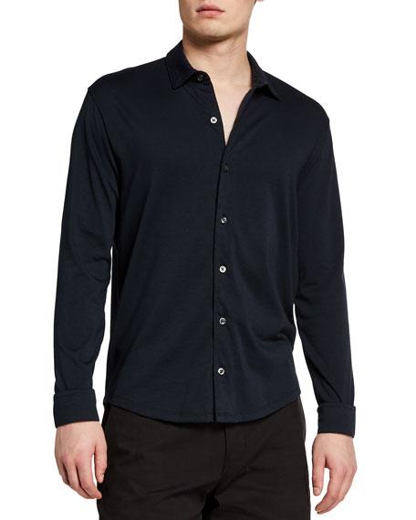 Vince Men's Solid Pima Cotton Sport Shirt