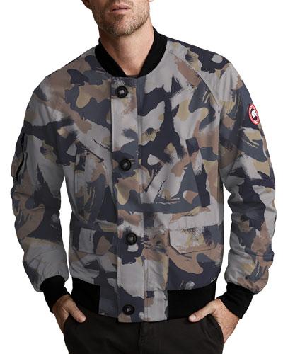 Men's Faber Camo-Printed Bomber Jacket
