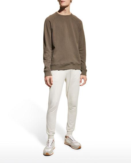 Vince Men's Crewneck Garment Dyed Cotton Sweatshirt