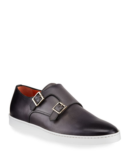 Santoni Men's Freemont G8 Double-Monk Leather Sneakers