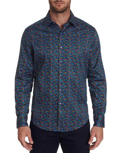 Men's Fruit Cocktail Contrast-Reverse Sport Shirt