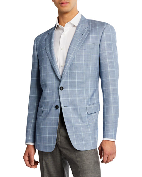 Giorgio Armani Men's Tonal Windowpane Wool Sport Coat