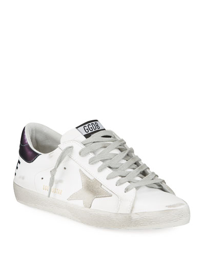 Men's Superstar Leather Sneakers with Back Logo