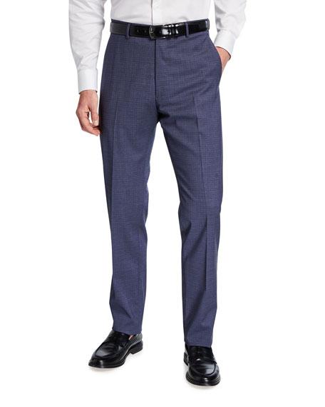 Zanella Men's District Check Wool-Blend Pants