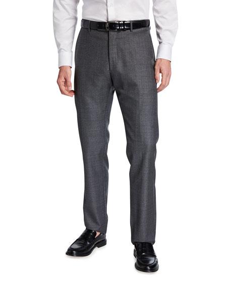 Zanella Men's Sharkskin Wool Pants