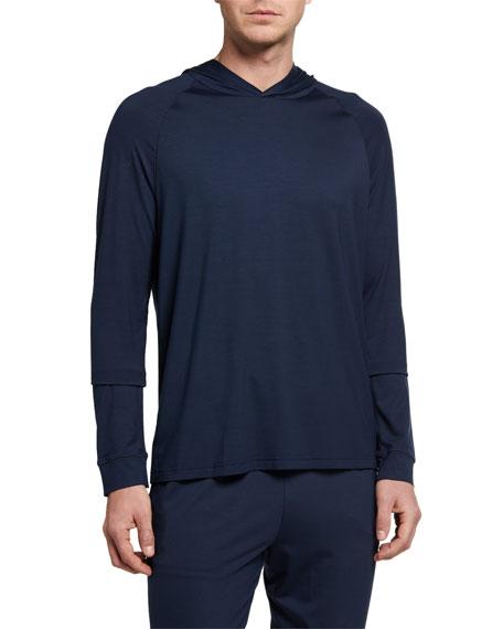 Derek Rose Men's Basel 1 Solid Jersey Pullover Hoodie