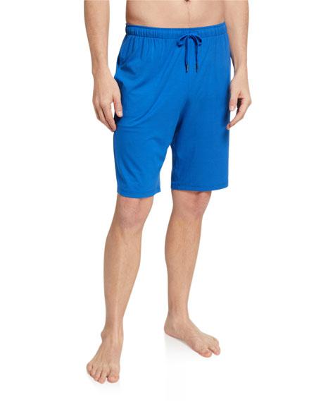 Derek Rose Men's Basel 8 Solid Jersey Lounge Shorts
