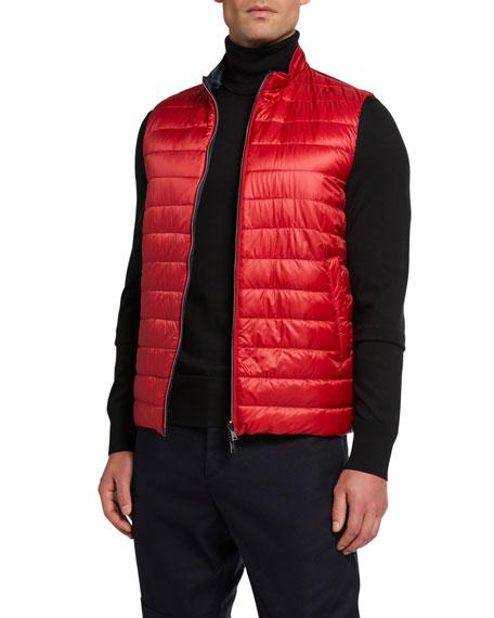Herno Men's Reversible Down Puffer Vest