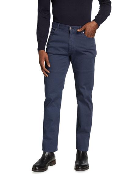 Ermenegildo Zegna Men's Cropped Canvas 5-Pocket Pants