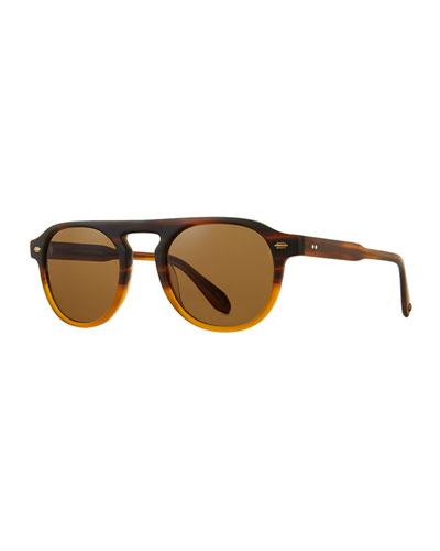 Men's Harding 47 Gradient Round Keyhole Sunglasses