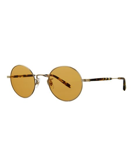 Garrett Leight Men's Lovers 49 Metal Sunglasses