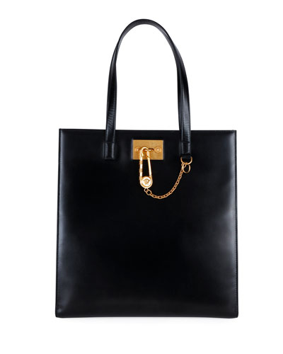 Men's Tribute Leather Tote Bag w/ Golden Clasp