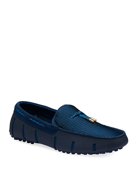 Swims Men's Lux Tassel Water Loafers, Navy