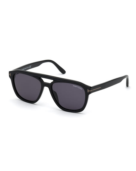 TOM FORD Men's Gerrard Square Aviator Acetate Sunglasses