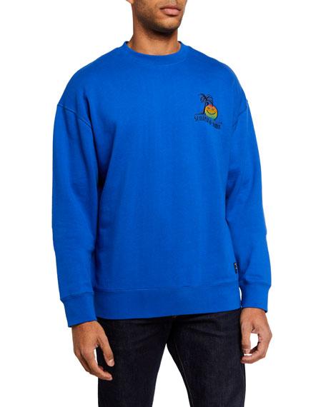 Scotch & Soda Men's Embroidered-Chest Crewneck Sweatshirt