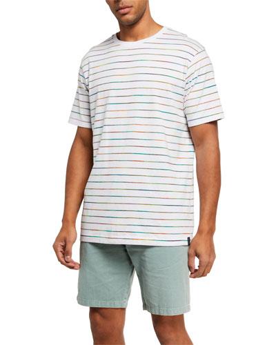 Men's Multicolor Stripe Crewneck Tee