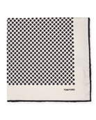 TOM FORD Large Polka Dot Pocket Square