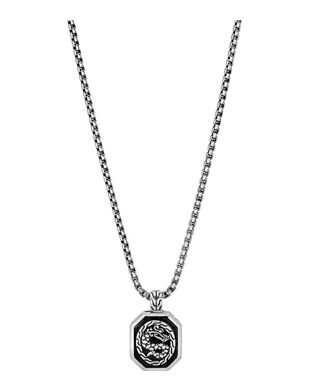 John Hardy Men's Legends Naga Silver Pendant Necklace, 20""