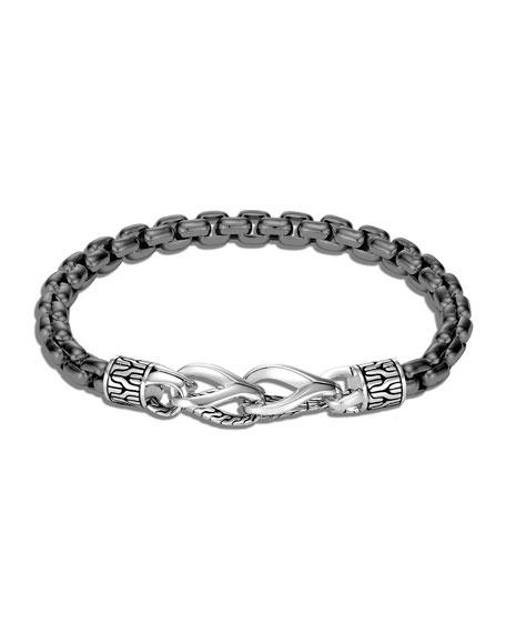 John Hardy Men's Asli Classic Chain Black Rhodium Box Bracelet, Size M-L