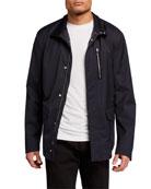 Giorgio Armani Men's Water-Repellant Wool Field Jacket