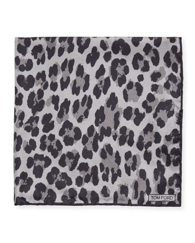 Men's Abstract Zebra Silk Pocket Square