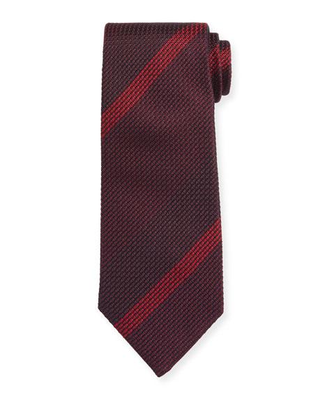 TOM FORD Large-Stripe Silk Tie, Pink