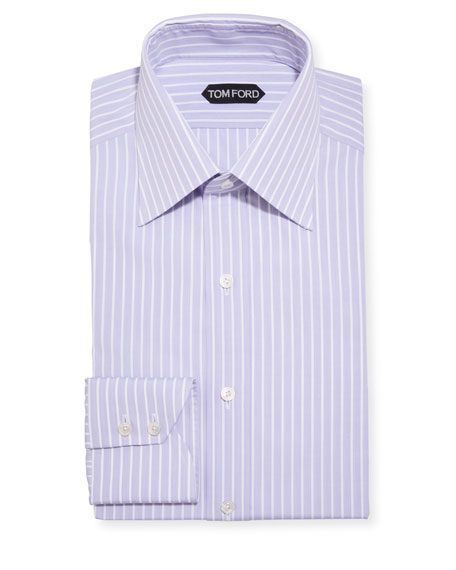 TOM FORD Men's Cordonetto Stripe Dress Shirt