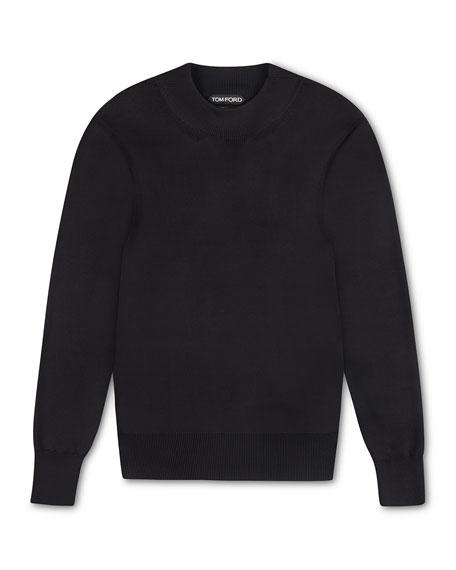 TOM FORD Men's Solid Silk Mock-Neck Sweater