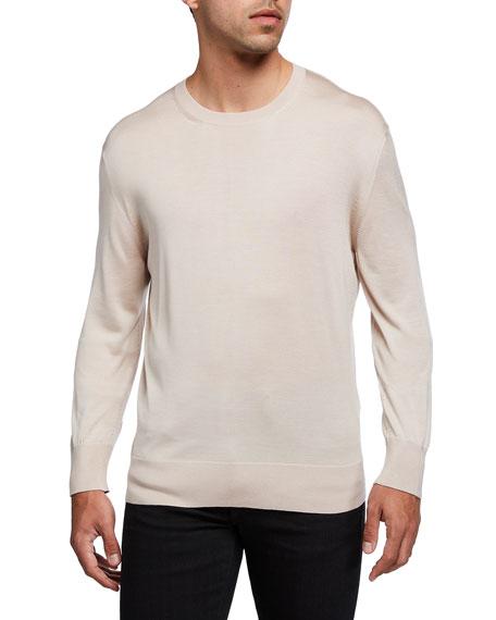 TOM FORD Men's Silk Long-Sleeve Crewneck Sweater