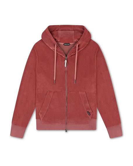 TOM FORD Men's Long-Sleeve Full-Zip Blouson Sweater
