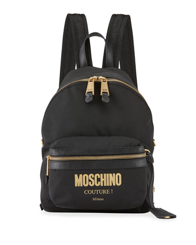 Men's Nylon Logo Backpack