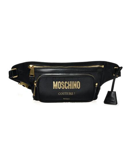 Moschino Men's Nylon Logo Belt Bag