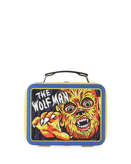 Moschino Men's x Universal Studios The Wolf Man Lunch Box Shoulder Bag