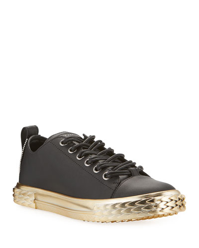 Men's Blabber Leather Sneakers w/ Metallic Sole