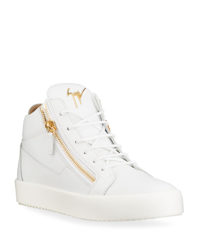 Men's May London Leather Zip Sneakers