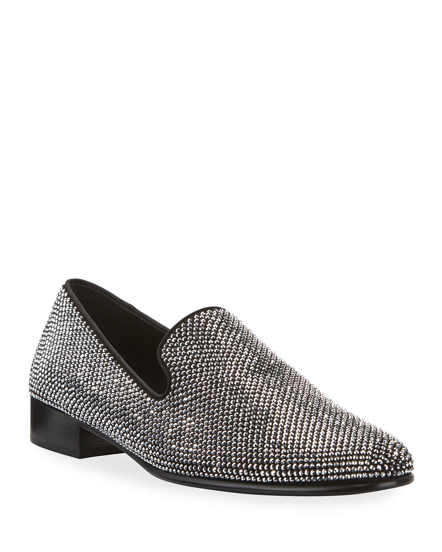 Men's Cut 15 Glitter Suede Loafers