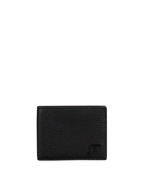 Salvatore Ferragamo Men's Tonal Signature Pebbled Leather Bifold Wallet
