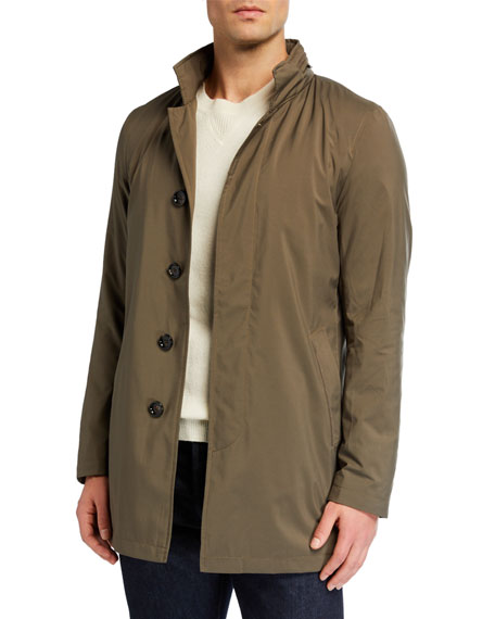 MANTO Men's Technical Stretch Raincoat, Sage