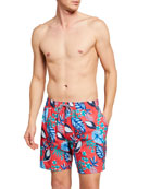Reyn Spooner Men's North Hilo Leaf Swim Trunks