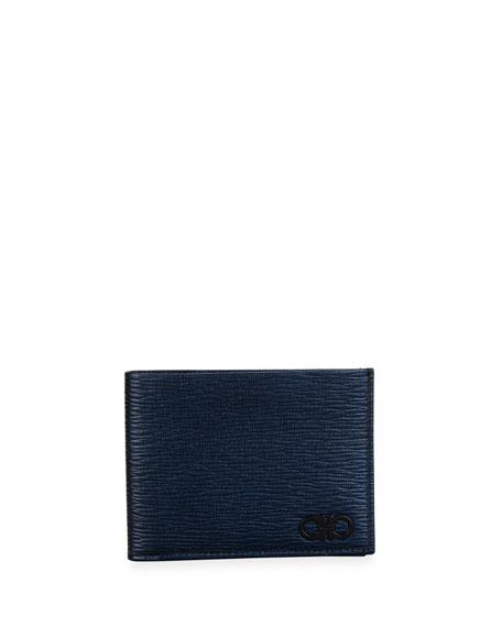 Salvatore Ferragamo Men's Revival Gancini Textured Leather Wallet