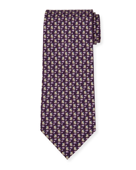 Salvatore Ferragamo Men's 4 Maxi Patterned Tie
