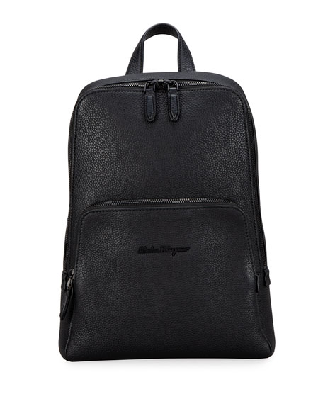 Salvatore Ferragamo Men's Firenze Medium Leather Sling Backpack
