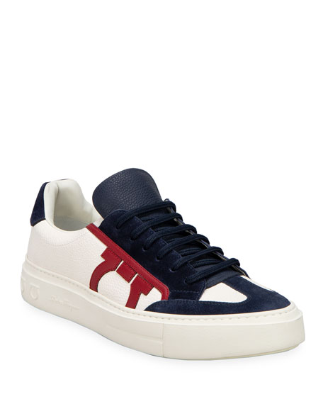 Salvatore Ferragamo Men's Borg 17 Lace-Up Sneakers