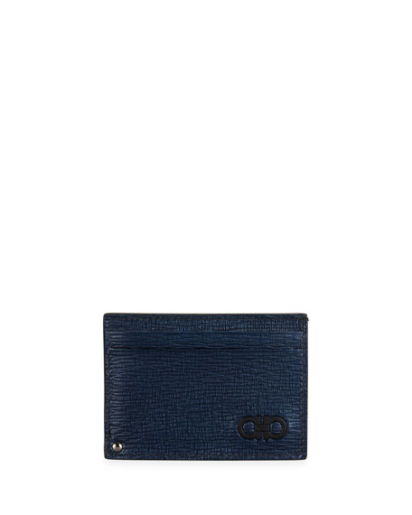 Salvatore Ferragamo Men's Revival Gancini Card Case w/ ID Window