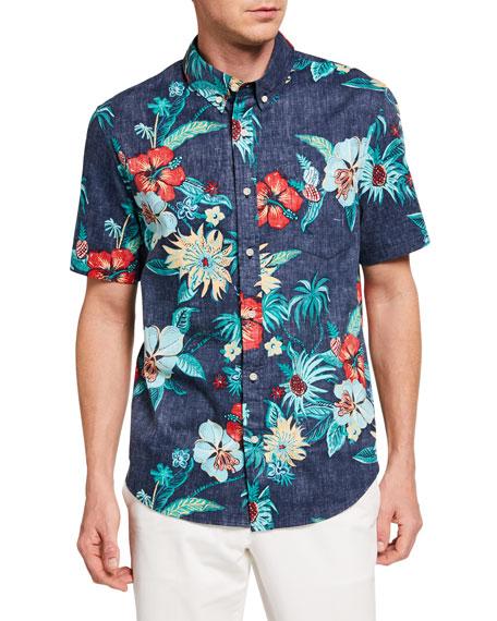 Reyn Spooner Men's Hana In Paradise Floral Sport Shirt