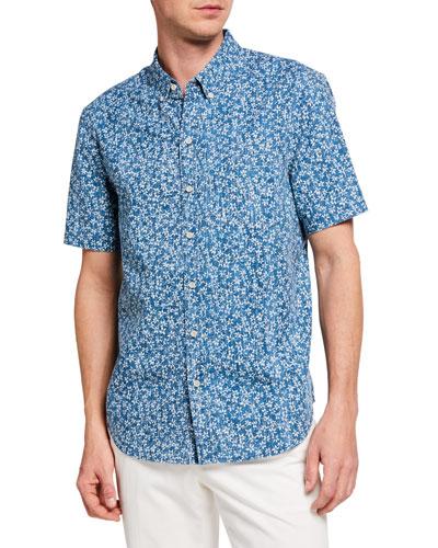 Men's Kiko Blooms Short-Sleeve Sport Shirt